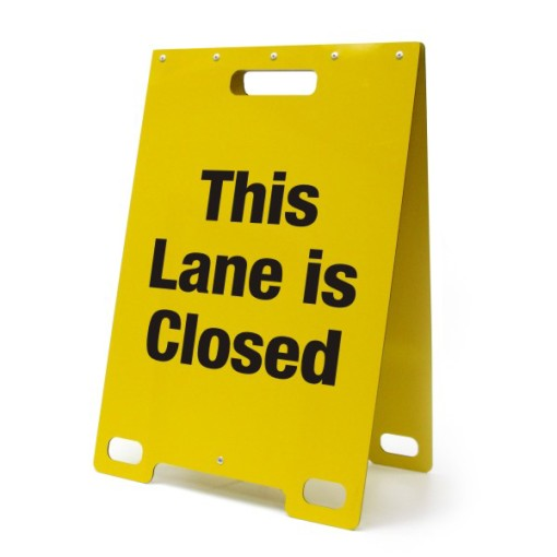 This Lane is Closed Yellow