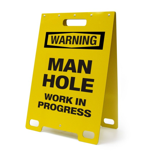 Remote Control Skateboard >> Warning Man Hole – Portable A-Frame Sign – BC Site Service
