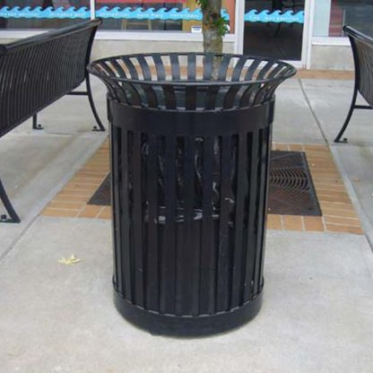 Wide Rim Commercial Garbage Can