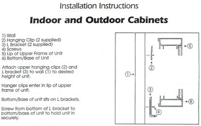 Bulletin Board Cabinet Installation Instruction