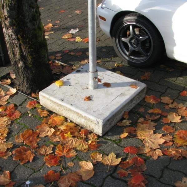 20 X 20 Concrete Sign Post Base Bc Site Service