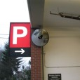 Convex Mirror Installed For Parking Stall