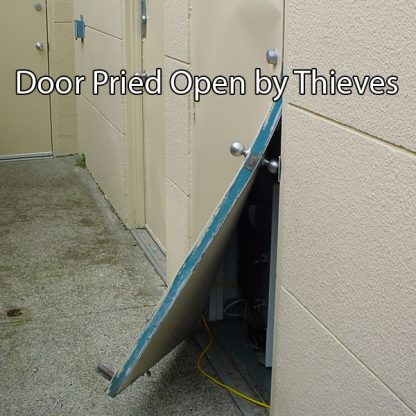 Door Pried Open by Thieves