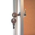 Indoor Locking Bulletin Board Cabinets Key System