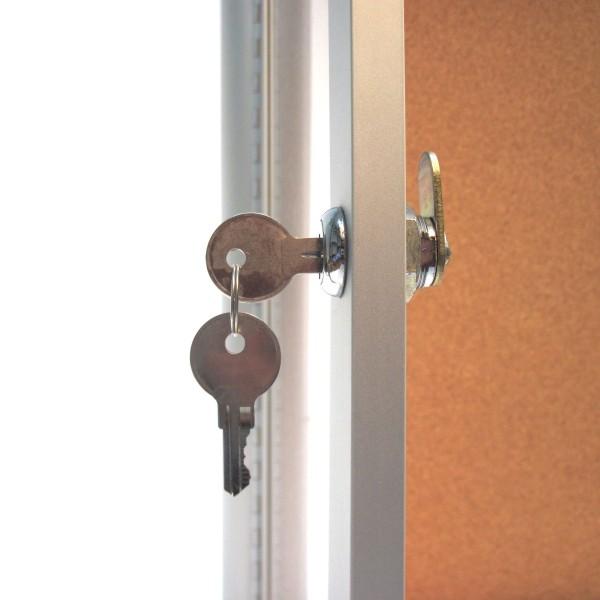 Indoor Locking Bulletin Board Cabinets Bc Site Service