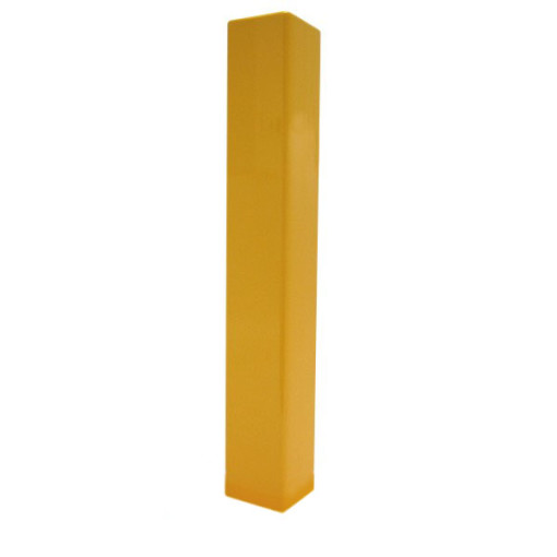 Square Yellow Flat Paint Metal Bollard – Copy