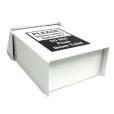 White Metal Sanitary Napkins Receptacle Bottom