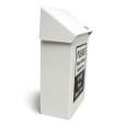 White Metal Sanitary Napkins Receptacle Profile