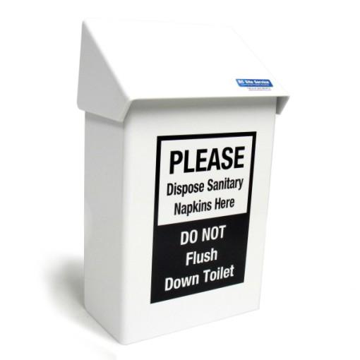 White Metal Sanitary Napkins Receptacles