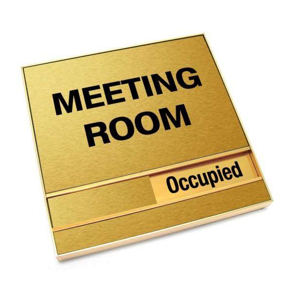 meeting room door plate slider sign 6 x 6 bc site service
