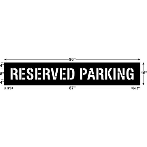 Reserved Parking 87 x 8