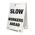 Slow Workers Ahead White