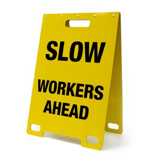 Slow Workers Ahead Yellow