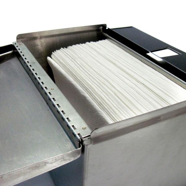 Stainless Steel Paper Towel Dispenser Inside