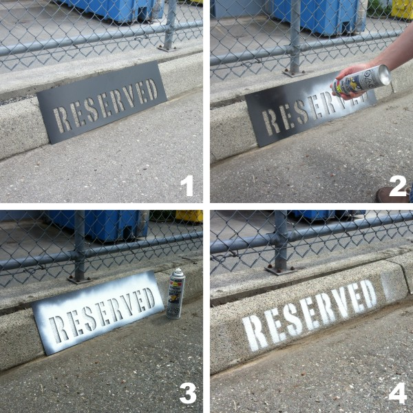 Reserved Parking Stencil 87 X 8 Bc Site Service