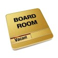 Vacant Brushed Gold Board Room Sign With Round Corners