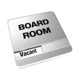 Vacant Brushed Silver Board Room Sign With Round Corners