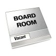 Vacant Brushed Silver Board Room Sign With Squared Corners