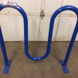 Wavy bike rack blue