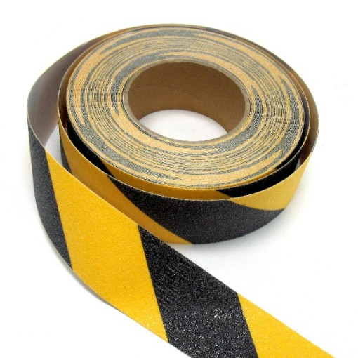 Yellow and Black Anti-slippery Tape Roll