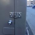 High Security Van Lock Installed