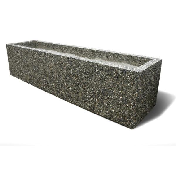 outdoor planters rectangular concrete planters