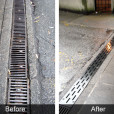 Continuous Drain Grate Before and After