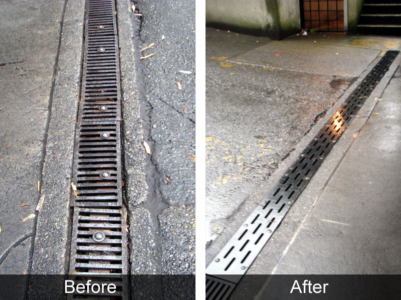 Custom Continuous Trench Drain Grates Bc Site Service