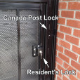 Door Inside a Door Enclosure Locking System