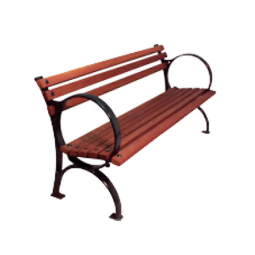 Power Coated Steel and Wood Benches