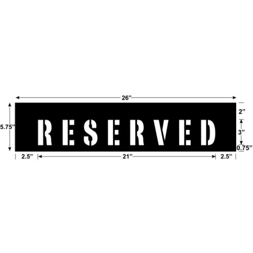 Reserved 21 x 3