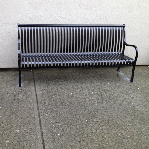 Steel Park Bench Bc Site Service