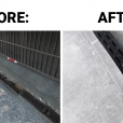Custom Continuous Trench Drain Grates – Before & After