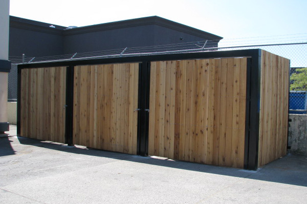 Custom Commercial Garbage Dumpster Enclosures Bc Site