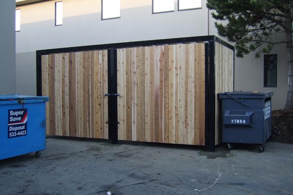 Custom Commercial Garbage Dumpster Enclosures Bc Site
