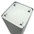 White metal waste receptacle 02