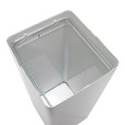 White metal waste receptacle 03