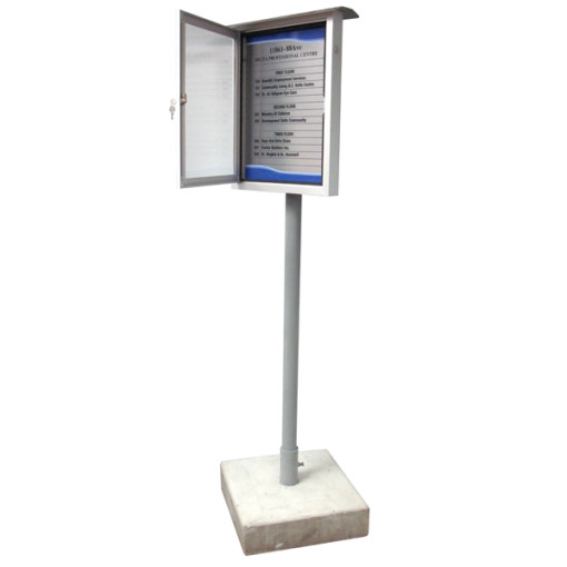 Exterior-free-standing-directory-system