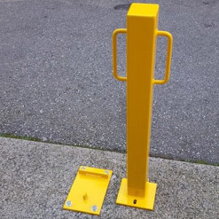 Removable Bollard Beside Locking Base
