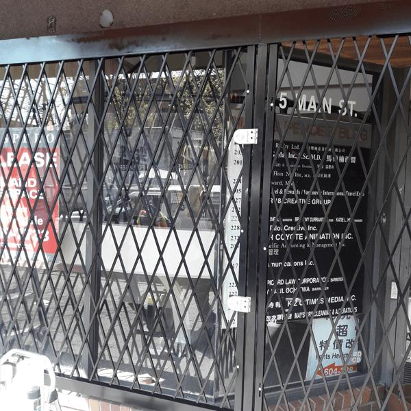 Folding Accordion Security Gates Bc Site Service