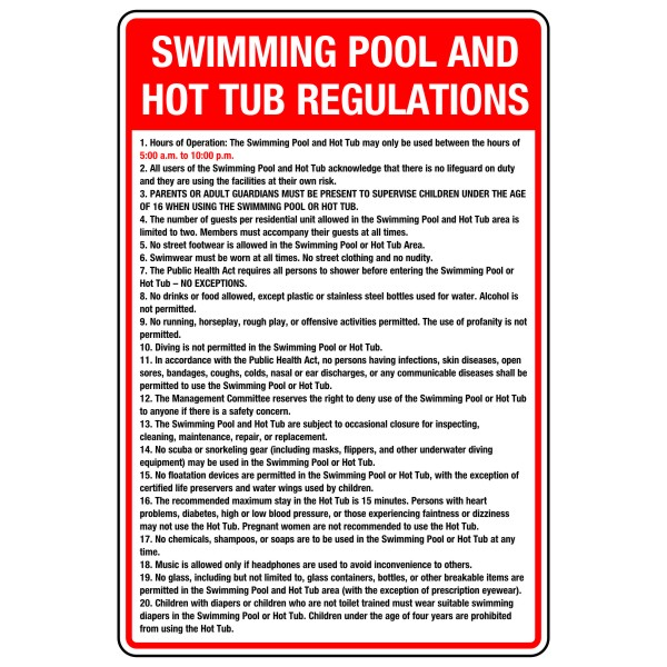 Swimming pool and hot tub regulations 16 24 bc site service - Swimming pool diving board regulations ...