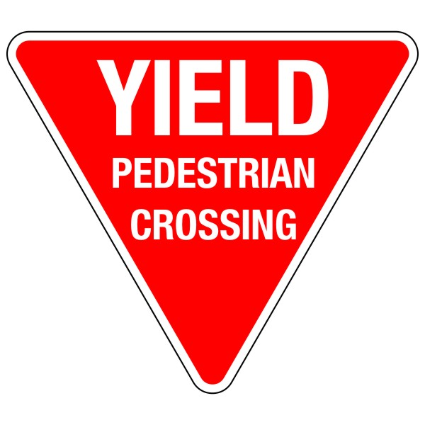 Yield Pedestrian Crossing Sign 30 Bc Site Service