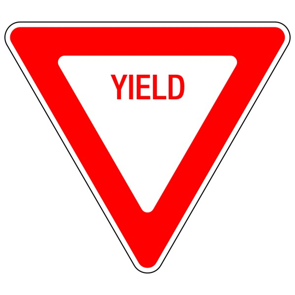 General Yield Sign 30 Bc Site Service
