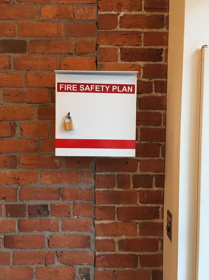 Fire Safety Plan Box With Padlock Bc Site Service