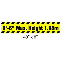 "Heavy Duty Aluminum Bar with ""Maximum Height"" Sign 48"" x 8"""