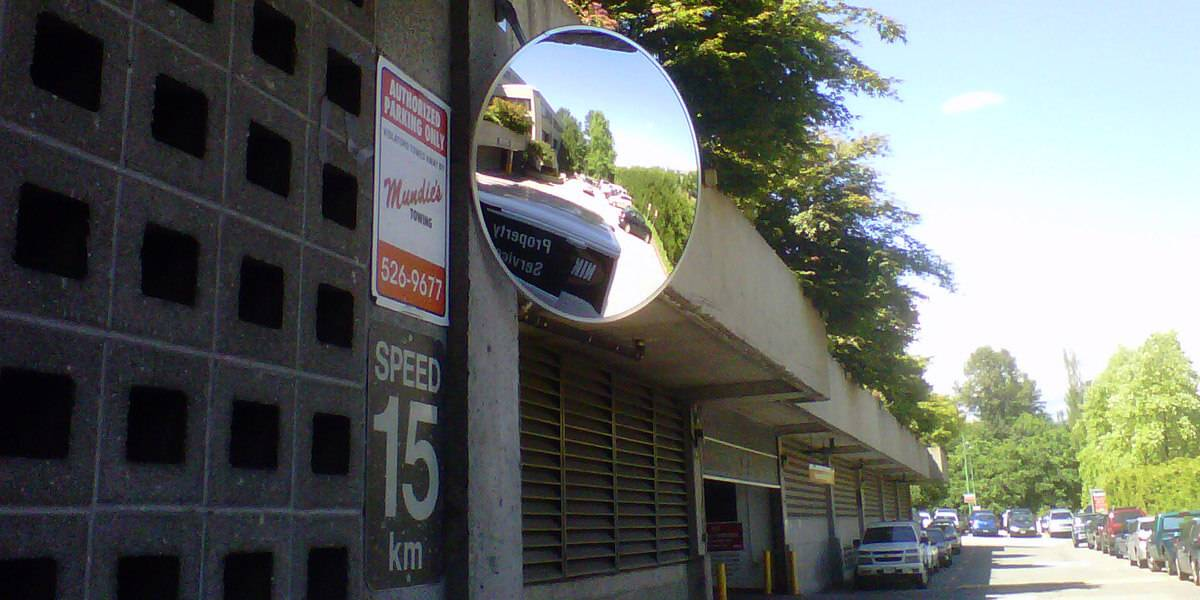 Traffic Safety Mirrors - Make pedestrians and drivers more visible